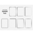 realistic shadows collection page dividers vector image vector image