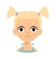 Sadness girl vector image