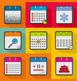 scheduler icons set flat style vector image