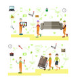 set of professional workers symbols vector image vector image