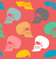 skull seamless pattern texture skeleton head vector image vector image
