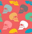 skull seamless pattern texture skeleton head vector image