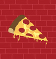 tasty pizza slice vector image vector image