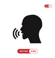 voice recognition icon vector image