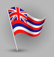 waving simple triangle american state flag hawaii vector image vector image