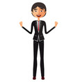 asian shocked young businessman surprised man vector image