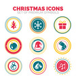 set of new year and christmas celebration holiday vector image