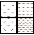 Set seamless pattern volleyball ball vector image