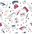 Music symbols Seamless pattern rock music vector image