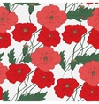 Colorful hand drawn poppies - seamless pattern vector image