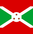national flag republic of burundi vector image