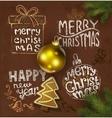 Christmas background on chalkboard vector image