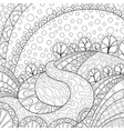 adult coloring bookpage an abstract landscape vector image vector image