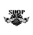 auto parts store car logo emblem vector image vector image
