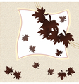 Autumn leaves invitation card vector image
