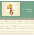 baby shower card with giraffe vector image vector image
