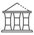 bank building icon outline style vector image vector image
