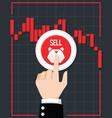 bearish stock market vector image vector image