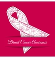 Breast cancer awareness background with pink vector image vector image