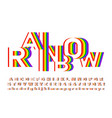 bright and colorful font in rainbow colors vector image