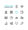 Business Finance Symbols - thick line design vector image