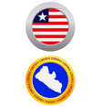 button as a symbol LIBERIA vector image