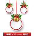 christmas sale tags with decorations vector image vector image