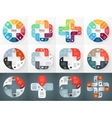 circle plus sign infographics set Template vector image vector image