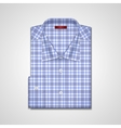 classic plaid shirt vector image vector image