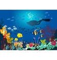 Coral reef with various species of fish vector image