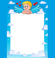 cupid thematics frame 1 vector image