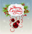 Decorative Christmas banner vector image