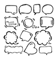 Doodle speech bubbles of different sizes and forms vector image