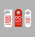 door labels do not disturb vector image