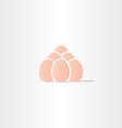 eggs icon logo symbol vector image vector image