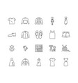 fashion design school line icons signs vector image