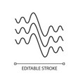 flowing wavy lines linear icon thin line fluid vector image vector image