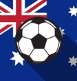 football icon with Australia flag background vector image vector image