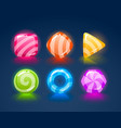 game match icon square set in different colors vector image vector image