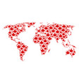 global map pattern of maple leaf items vector image vector image