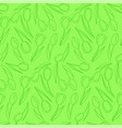 green background with seamless pattern of tulips vector image