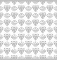 grey diamond shapes seamless pattern design vector image vector image
