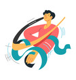 gymnast with ribbons athlete or flexible dancer vector image