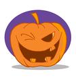 Halloween Pumpkin Character Winking vector image vector image