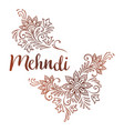 hand drawn template for mehndi ornate ethnic vector image vector image