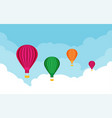 hot air balloons tourism and vacation theme flat vector image vector image