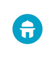 islam mosque symbol masjid and blue circle shape vector image vector image