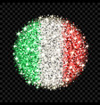 italy flag sparkling badge vector image