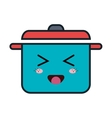 kitchen pot kawaii style vector image vector image