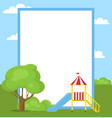 large blue slide for children with yellow ladder vector image